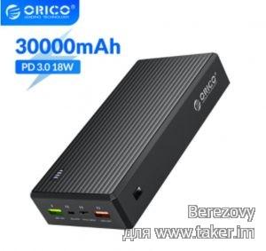 Обзор внешнего аккумулятора ORICO AK30 (30000mAh/2 USB/QC!) и меньше 20$